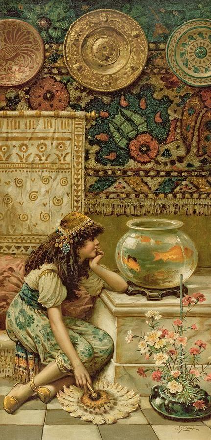 William Stephen Coleman (1829-1904). Goldfish
