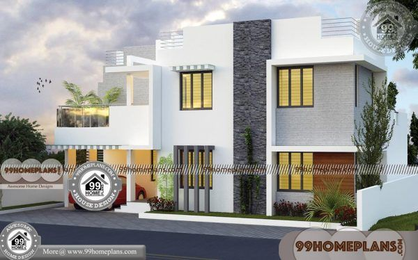 Duplex Plans For Small Lots 70 Two Floor House Plans Modern Ideas Duplex House Design Kerala House Design Modern Architecture House