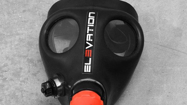 Elevation Training Mask, got one not too long ago. Does wonders for your work out. I ruck march with it every other day.