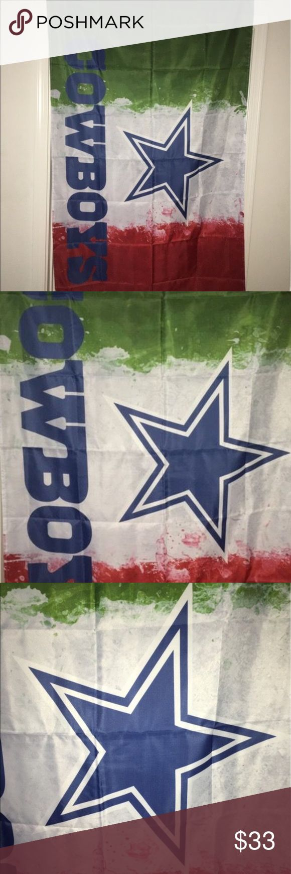 Dallas Cowboys pride of Mexico team flag 3'X5' Thank you for viewing my listing, for sale is a NFL, Dallas Cowboys, pride of Mexico, approximate 3' x 5', team flag.  Item is brand-new in the package. If you have any questions or would like additional photos please feel free to ask.  If you love the country of Mexico, why not show your pride for Mexico and your favorite football team the Dallas Cowboys! NFL Accessories