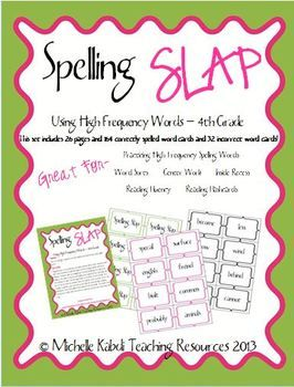 This is a spelling game based on the classic card game Slap Jack! The words in this game are high freqency words.  There are 164 core word cards and 32 cards with spelling mistakes.   When a spelling mistake is flipped up, the first person to slap it has to spell the word correctly before they can take the pile of cards.     You can use these cards for word sorts, reading fluency cards, even as an inside recess game!