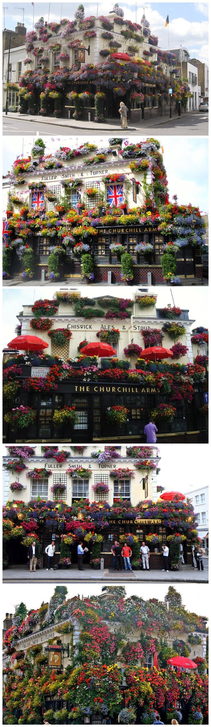 The Churchill Arms lays a genuine claim to being London's most famous watering hole. Built in 1750, this Kensington pub was once frequented by Winston Churchill's grandparents - and it's now the preferred haunt of many a modern day celebrity.