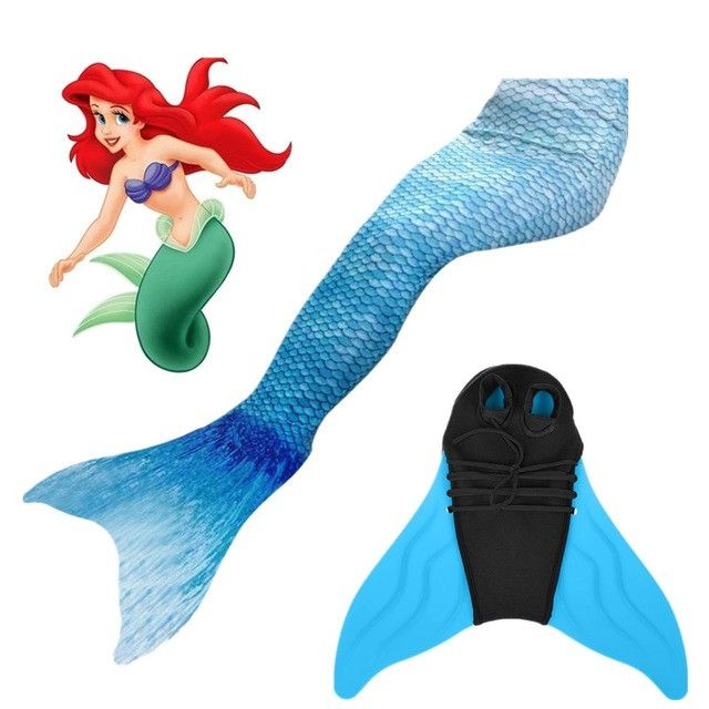 Swimmable Mermaid Tail for kids monofin child swimwear