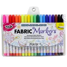 Packed with rich, quality pigment, you'll get nothing less than ultra-vibrant color! These true-to-color fine tip markers easily apply ink to fabric and are permanent and washable so your creativity s