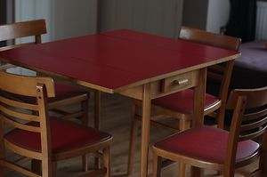 red formica table - Google Search