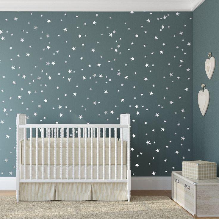 Bedroom Stars Wall Decals - #babyroom nursery design #moderndesign luxury baby room #nurseryideas . See more inspirations at www.circu.net