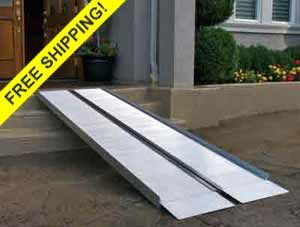 Folding Suitcase Signature Series portable wheelchair ramps.  http://www.portable-wheelchair-ramps.com/portable-ramps/signature-suitcase-ramps.aspx