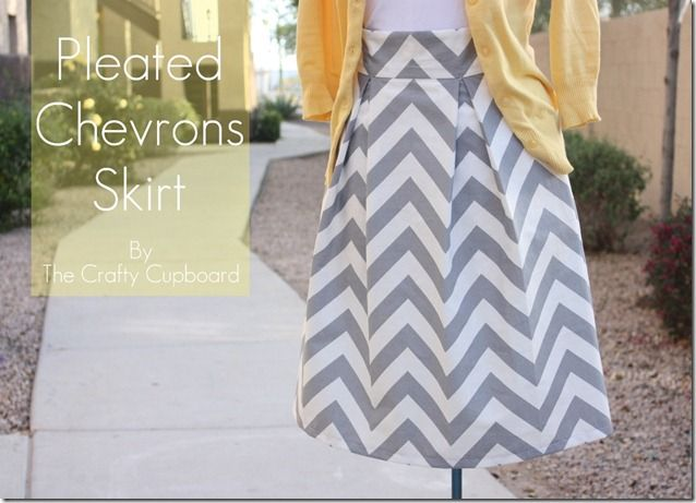 DIY: Pleated Chevron Skirt (I think this would great in a non-chevron fabric too)!