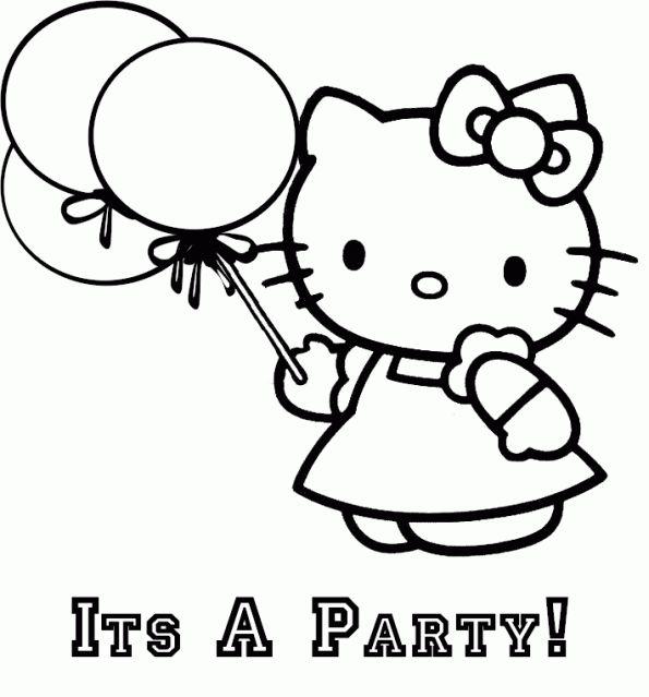 Kleurplaten Hello Kitty Printen.Hello Kitty Kleurplaat Verjaardag Google Zoeken Kleding