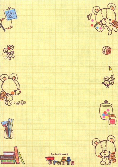 kawaii toy animal bear Memo Pad 5