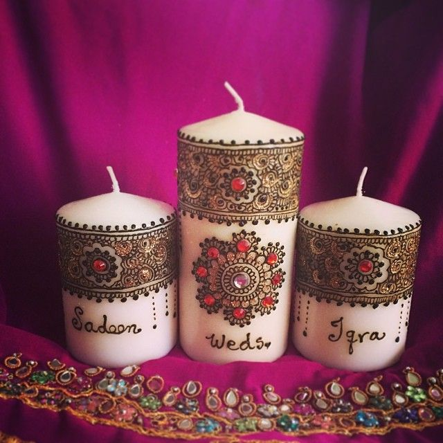 Ready to pack this beautiful Wedding henna Candle set for my client :)