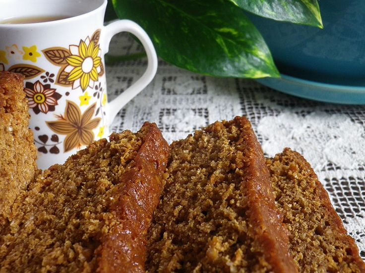 Slices of parkin are perfect on a cold and misty day.