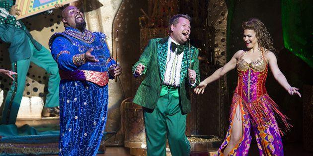 Carpet Ride Karaoke? Tony Winner & Late Night King James Corden Makes a Cameo in Broadway's Aladdin   Broadway Buzz   Broadway.com