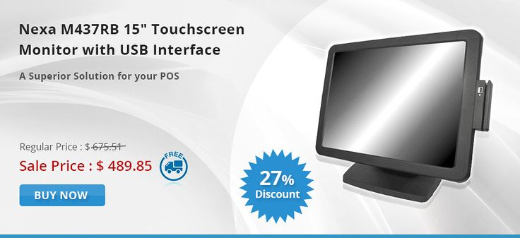"""Get Best deals on Nexa M437RB 15"""" Touchscreen Monitor Black with USB interface. OnlyPOS offering 27% OFF on regular price including FREE Shipping in Australia..!   http://www.onlypos.com.au/nexa-m437rb-15-touchscreen-black-with-usb-interface"""