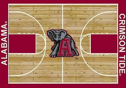 NCAA College Home Court Alabama Novelty Rug