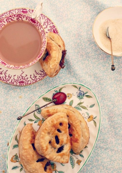Traditional English eccles cakes from the Unofficial Downton Abbey Cookbook.
