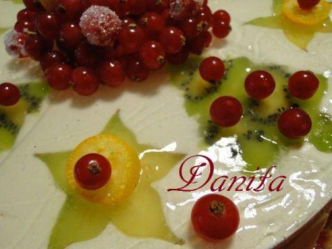 Le leccornie di Danita: La mia torta di Natale...alla frutta però!!!