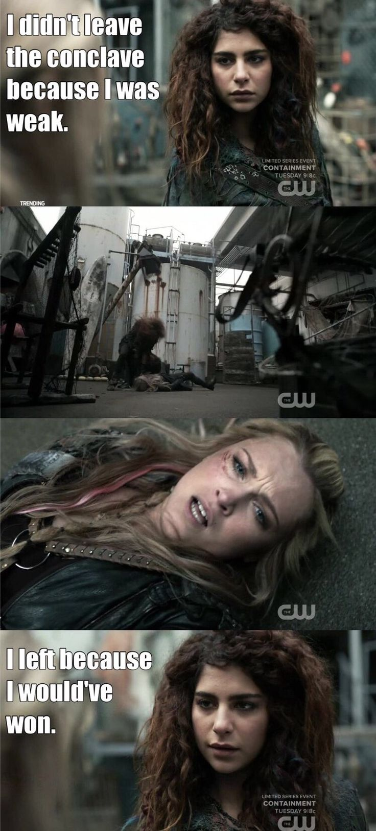 "#The100 3x14 ""Red Sky at Morning"" - Clarke and Luna"