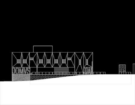Palácio de Justiça_Gouveia _Elevation plan