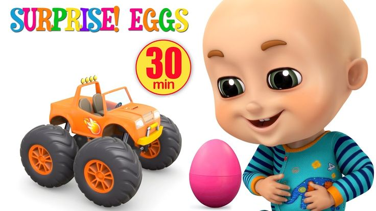 Surprise Eggs | Monster Trucks Toys for Kids | Surprise Eggs Videos from...