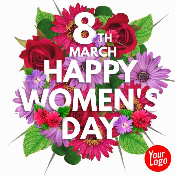 Happy Women S Day 8th March Flower Video Ladies Day Flower Video Happy Womens Day