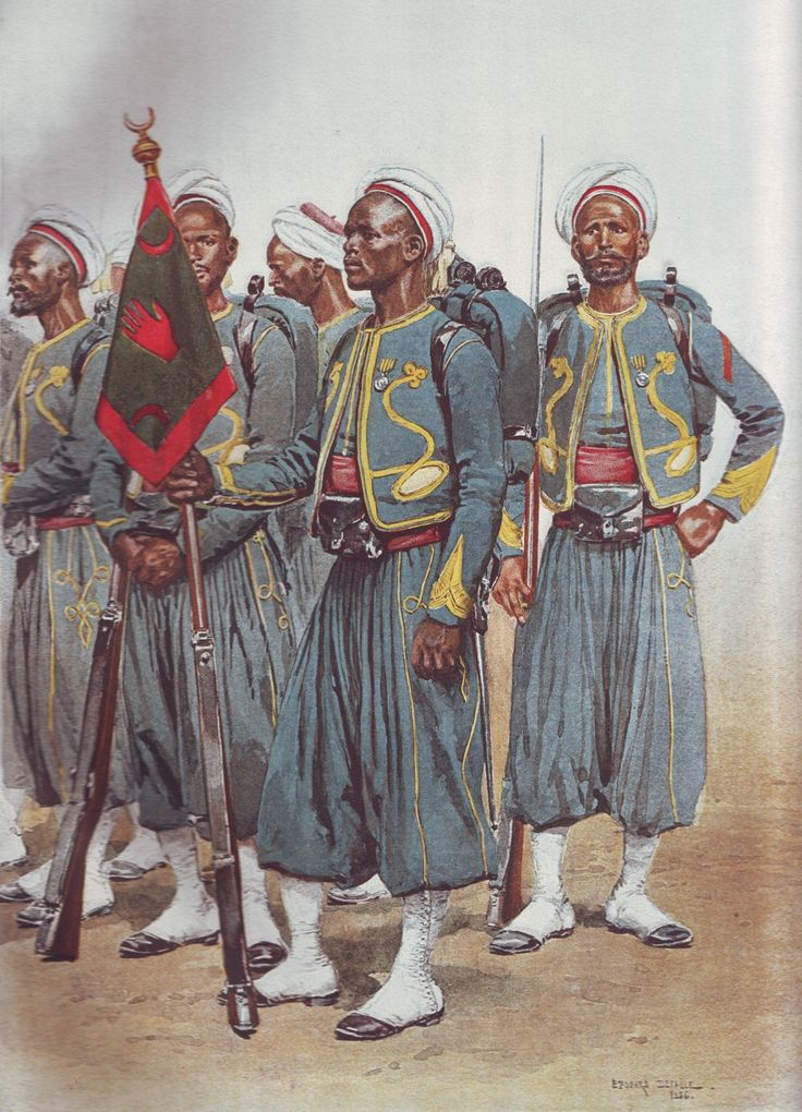 French Army 1900 Tirailleurs Indigens by Édouard Detaille