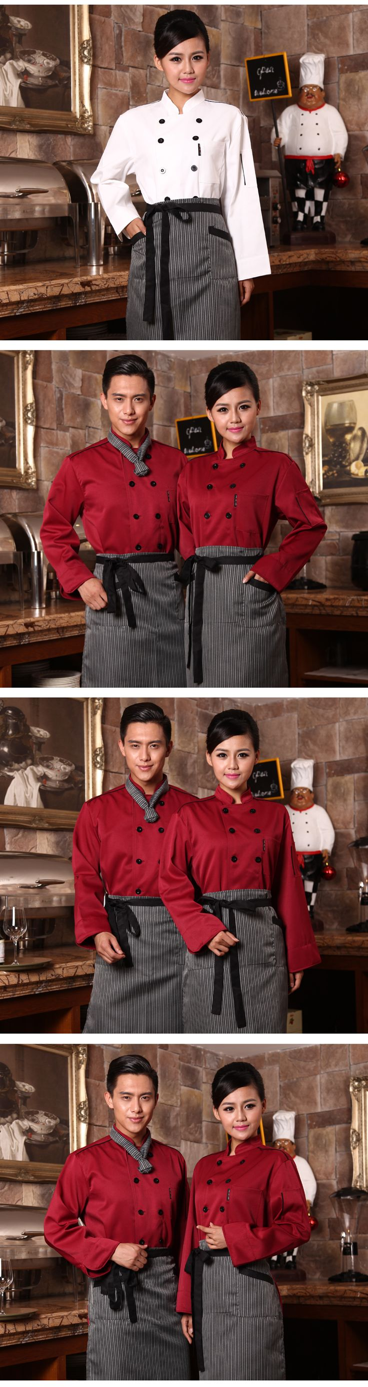 Russian classic restaurant chef uniform fashion design - UniformSELL