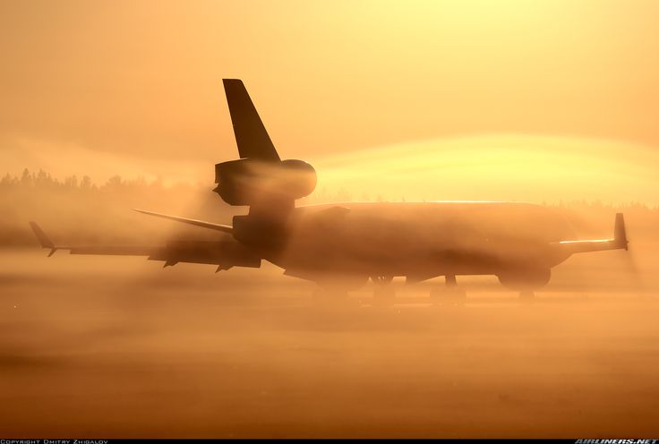 Taxiing down rwy 11 into the rising fog for a turnaround after arrival at early morning hours - Photo taken at Krasnoyarsk - Yemelyanovo (KJA / UNKL) in Russia on September 9, 2016. - © Dmitry Zhigalov / Airliners.net