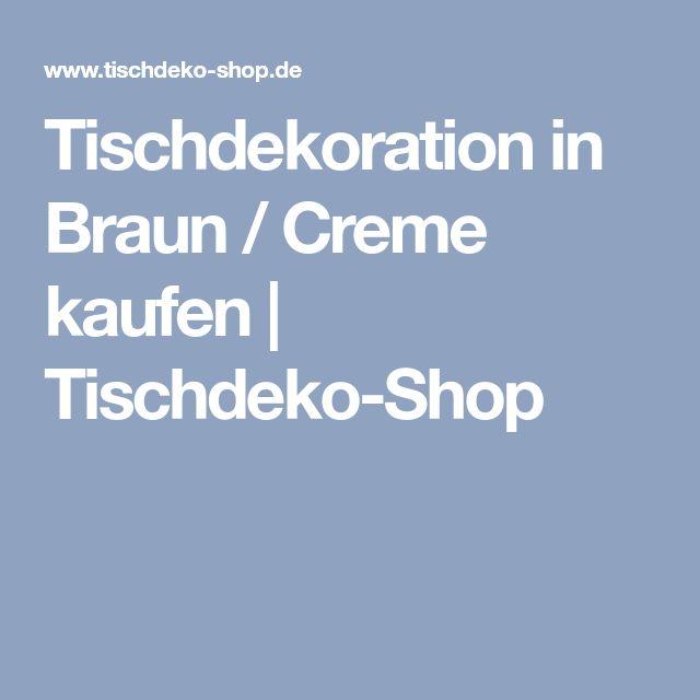 Tischdekoration in Braun / Creme kaufen   Tischdeko-Shop
