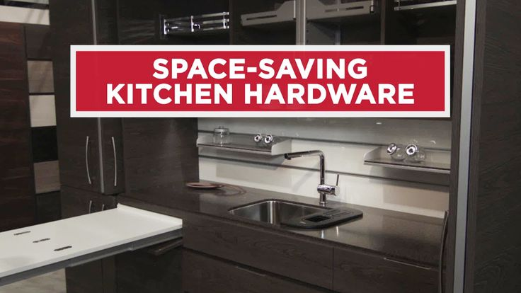Tricks for tiny spaces - this video shows how hidden storage and a foldaway dining table saves space in a small kitchen.