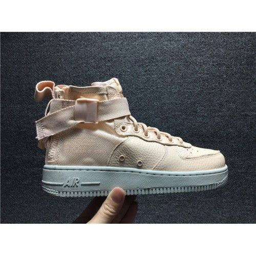 finest selection e2427 dcf18 2018 New Nike SF AF1 Mid Special Forces Ones Sneakers For Women Pink White  AA3966-800