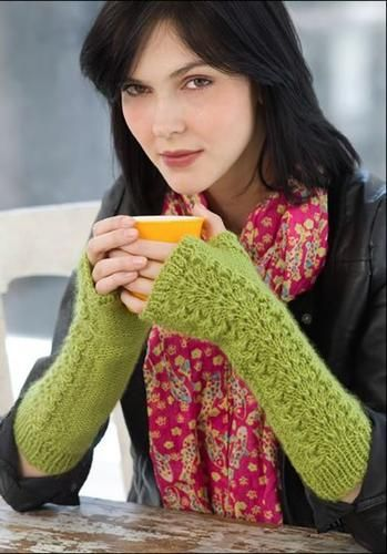 cozy fingerless gloves are yummy