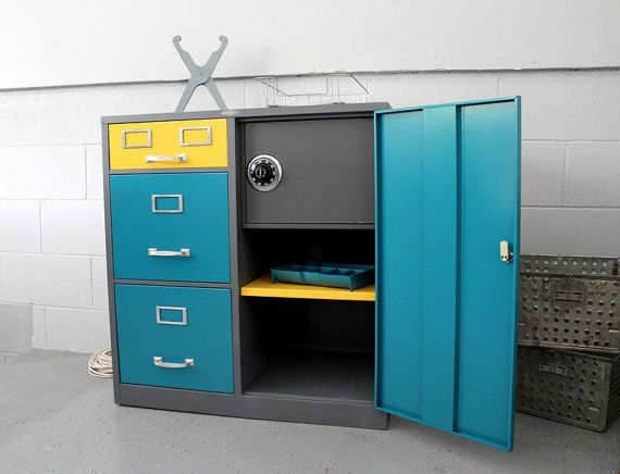 Lovely ON HOLD RESV Cole Steel Mid Century Industrial File Cabinet With Safe Images