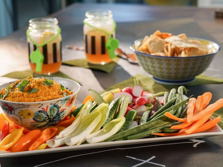 Roasted Carrot Hummus recipe from Valerie Bertinelli via Food Network