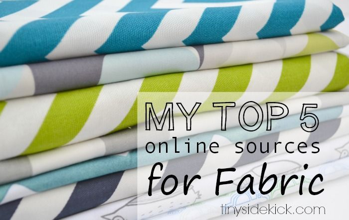 5 Awesome Places to Buy Fabric Online #fabric