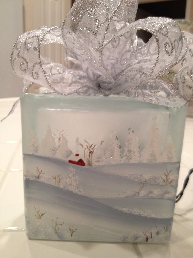 Hand-painted glass block by sue berger | DIY & Crafts that I love | P ...