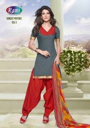 Grey Color Beautiful & Fashionable All New Cotton Fabric Unstitched Patiala Suit