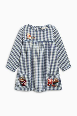 Buy Blue/White Gingham Character Dress (3mths-6yrs) online today at Next: United States of America