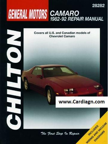 1982-1992 Chevrolet Camaro Chilton Repair Manual PDF