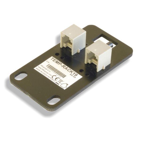 http://www.termometer.se/Sensor-temperatur-1Wire-19.html  Sensor temperatur 1Wire, 19 - Termometer.se  Enkel digital temperaturgivare för Rackmontering, kommunicerar över 1-Wire (MicroLan). Givaren är konstruerad för anslutning till HWg-STE eller Poseidon.  Det är möjligt att ansluta upp till 10 av dessa sensorer parallellt med en enda buss, varje sensor identifieras med ett unikt serienummer. För mätning av temperaturgivare använder en integrerad del med en noggrannhet på ± 0,5 ° C...