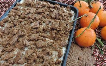 Tiramisu met speculaas en mandarijn