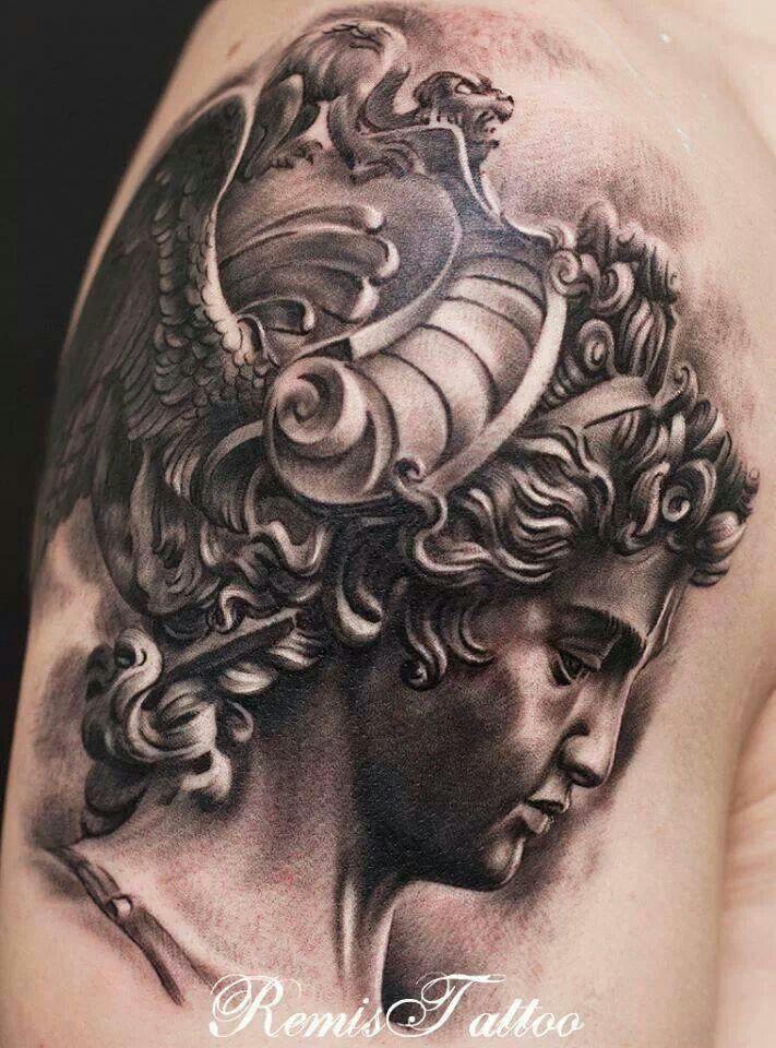 Roman bust by Remis Tattoo