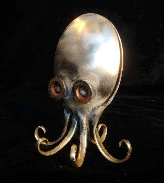 Spoon Octopus by victorsARTbeats on Etsy
