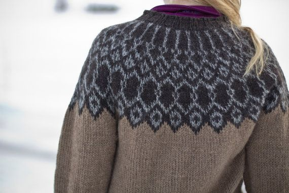 Icelandic Sweater Knitting Pattern : Silfri - Icelandic lopapeysa pattern knitted wool ...