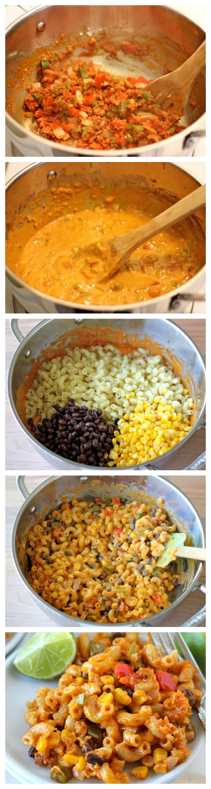 Chorizo Mac and Cheese Recipe ~ Mexican-style, veggie-loaded mac and cheese the whole family will love!
