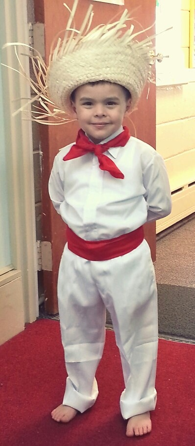 Traditional Puerto Rican Jibaro Outfit.  We dress kids like for this for school in puertorican week in October.