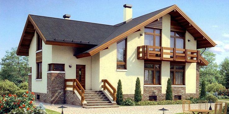 Фасад дома из фасадных панелей