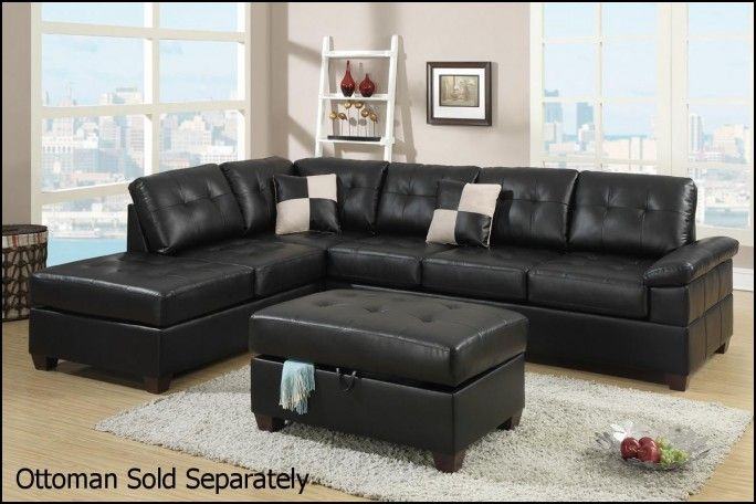 Cheap Black Leather Sectional sofas