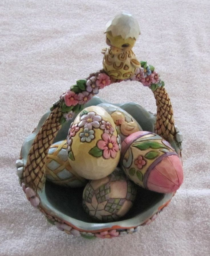 15 best jim shore easter baskets i own images on pinterest easter jim shores 2007 easter basket biddie basket in collectibles decorative collectibles decorative collectible brands enesco jim shore negle Image collections