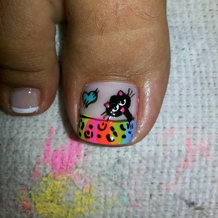 Toe nail art design idea | unas
